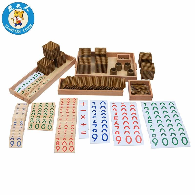 Монтессори образования детей игрушки дошкольных учебных пособий математика обучения банк игры