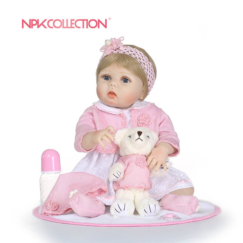 full body silicone Vinyl Boneca BeBes Reborn Doll For Girls toys for children Soft Silicone Reborn