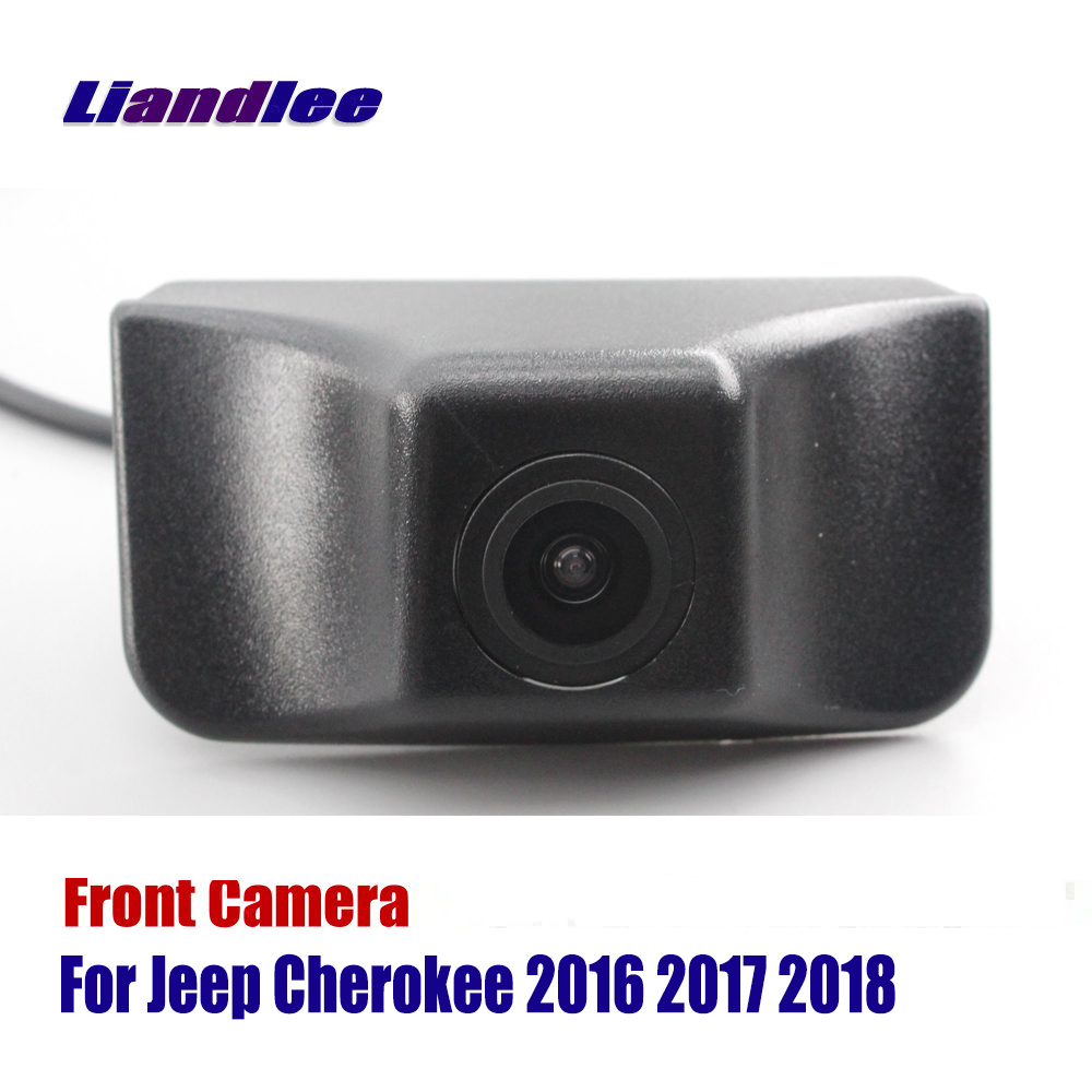 Liandlee AUTO CAM For Jeep Cherokee 2016 2017 2018 Front View Camera Grill Embedded ( Not Reverse Rear Parking )