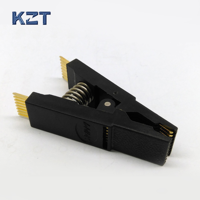BIOS SOIC SOP16 Original Straight Test Clip Pin Pitch 1.27mm Universal Body Programming Clip For EPROM Test ad9764arrl 28 soic