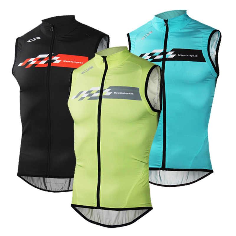 רכיבה על אופניים אפוד גברים נשים רעיוני בטוח רכיבה על אופניים Gilet שרוולים ג 'רזי למעלה ריצה MTB אופני אפוד ספורט בגדי Chaleco Ciclismo