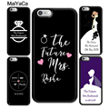 MaiYaCa Personalised Wedding Mrs To Be Bride Soft TPU Shell Phone Case For iPhone 6 6S Plus 7 Plus 8 X 5S SE Cases Back Cover