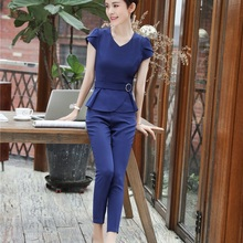 3bf3779c35 Buy office uniform designs women pants suits and get free shipping ...