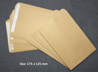 50 Pack Blank Light Brown Kraft Paper Self Sealing Envelope W Peel Press