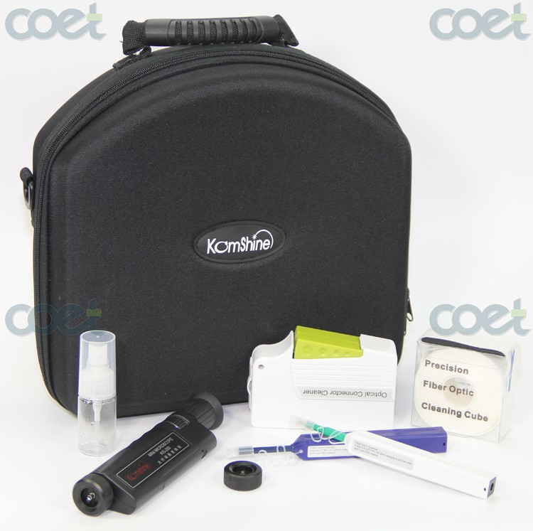 Optical Fiber Connector Cleaning & Inspection Tool Kit KIC-7E incl.One-click cleaner, KCC-500 Cassette Cleaner + Scope