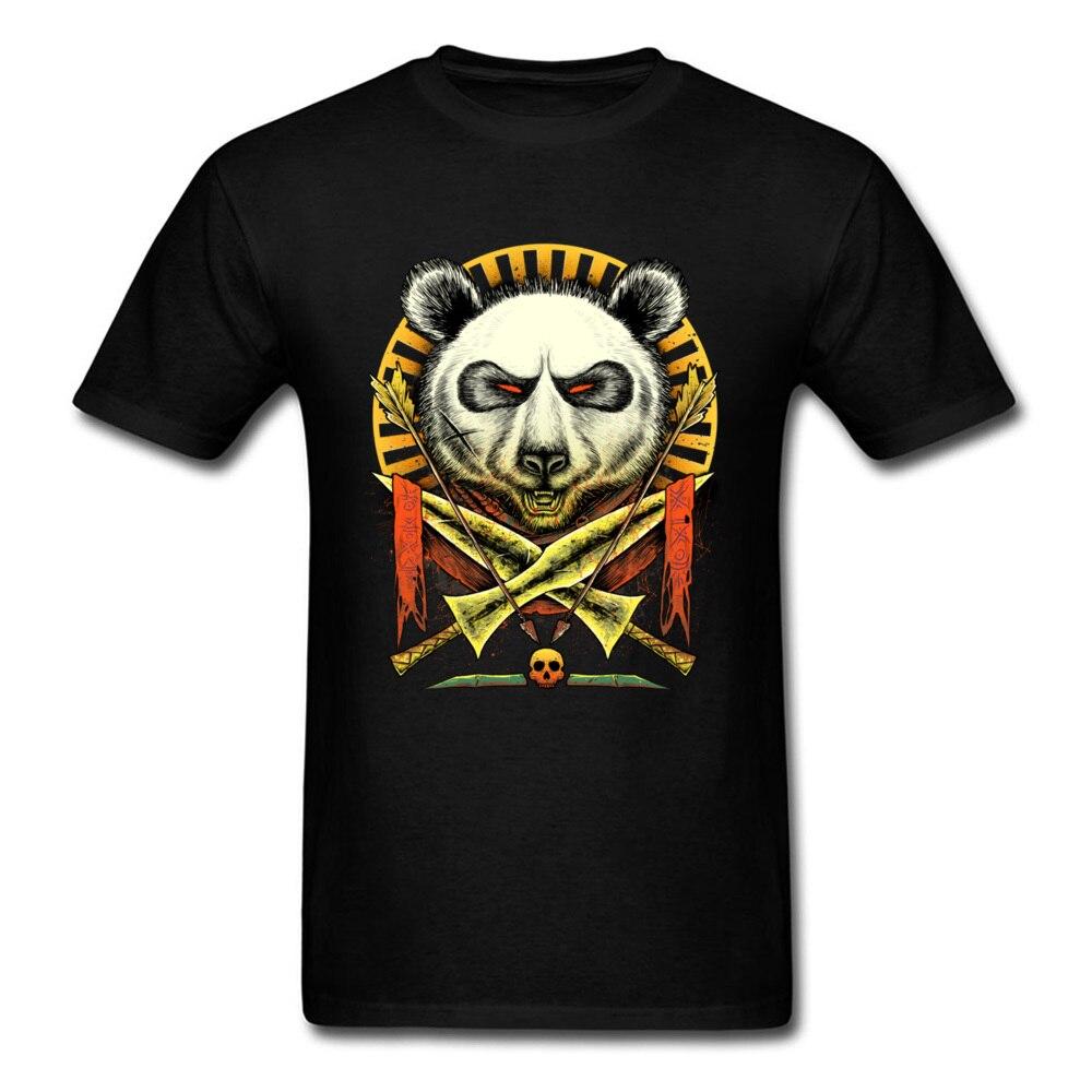 Panda Warrior Cool Design Short Sleeve Tee Shirts Men Funny Pirate Kongfu T Shirt For Men Interesting Graphic T-Shirts