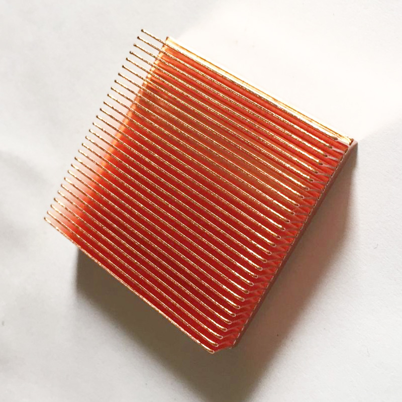 Free Ship 2pcs Copper Cooling Heatsink Instrument Platform Chip Radiator 40*40*11mm Heat Sink Radiator for Electronics/PCB Board high power pure copper heatsink 150x80x20mm skiving fin heat sink radiator for electronic chip led cooling cooler