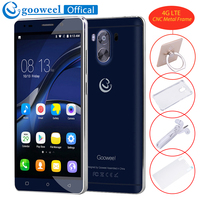 Gooweel G9 telefone Móvel 4G LTE MTK6737 Android7.0 Smartphone Quad core 5.5 polegadas IPS Tela 1 GB + 8 GB 13.0MP GPS do telefone Celular desbloqueado