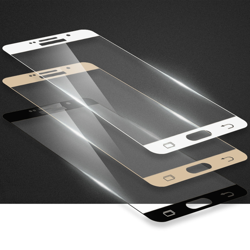 Full Cover Curved Surface For Samsung Galaxy S7 A5 A7 A9 C7 On5 Screen Protector Protective Note 4 5 A510 S7 Tempered Glass Film