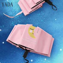 YADA NEW Design Moon Pattern Folding Rainy Umbrella Anti-UV Rainproof Sun Protection Parasol Love You To The YD021