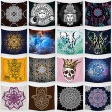 Hot sale mixture styles middle  tapestries wall hanging large tapestry home decoration tapiz pared 1750mm*1750mm