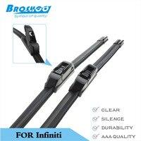 Car Wiper Blade for Infiniti M35, 24+20inch soft rubber Auto part windscreen wiper blade Car accessorie Free shipping 1Pair