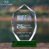 Personalized Faceted Glass Sculpture Customized Sports Events Awards Trophy Statue DIY Games Rewards Office Decoration