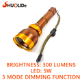 high quality 300 Lumens led Torch Zoomable adjustable LED Flashlight lampe light For 1x18650 battery rechargable Free shipping