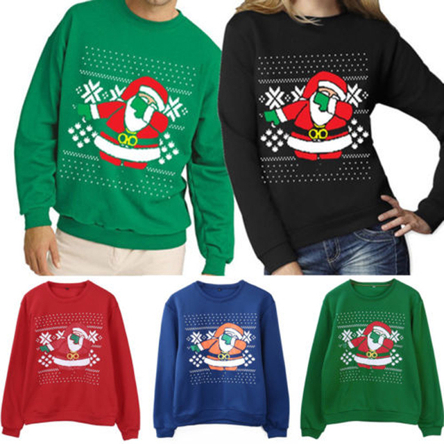 b57bf2646 Autumn Winter NEW Xmas Sweaters Ugly Christmas Sweater Couple Matching  Clothes Unisex Outfits for Lovers Women Men