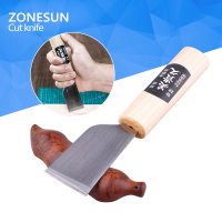 Stainless Steel Leather Cutter Knife Craft Skiving Sharp Leathercraft Handwork DIY Tool