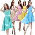 new 2017 springl Bride double-shoulder chiffon cocktail dress short formal dress short design homecoming graduation party dress
