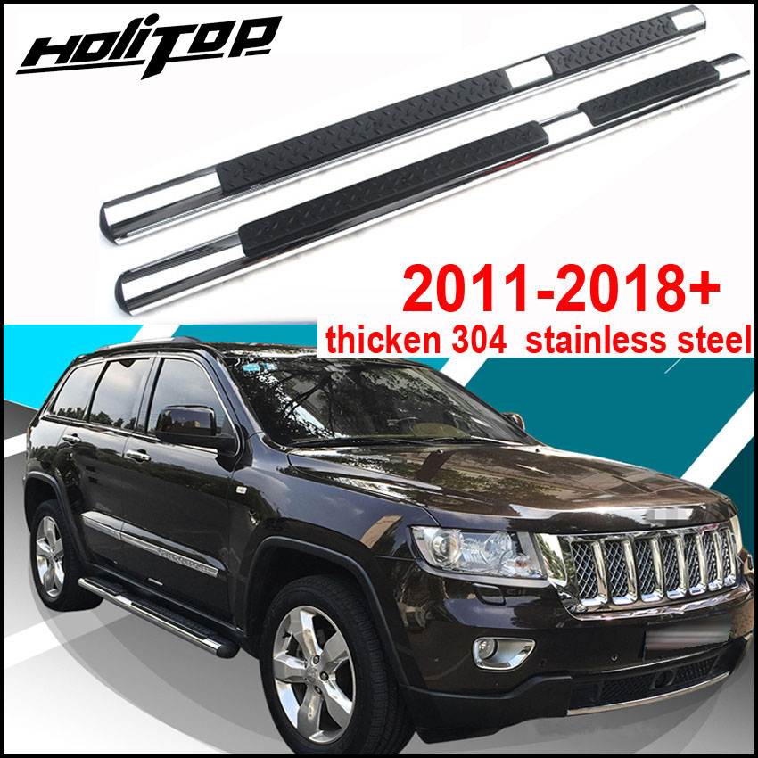 Match for Mitsubishi Eclipse Cross 2018 2019 foot board side bar running board pedals thicken aluminum