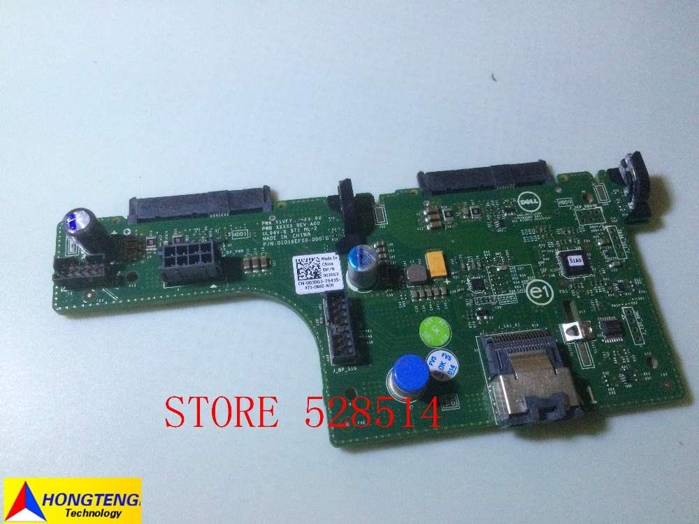 Original 0JDG3 CN-00JDG3 00JDG3 Rear Hard Drive Backplane 2.5 Inch 2 BAY For Dell poweredge R720 / Poweredge R720XD Y1VFY TESED