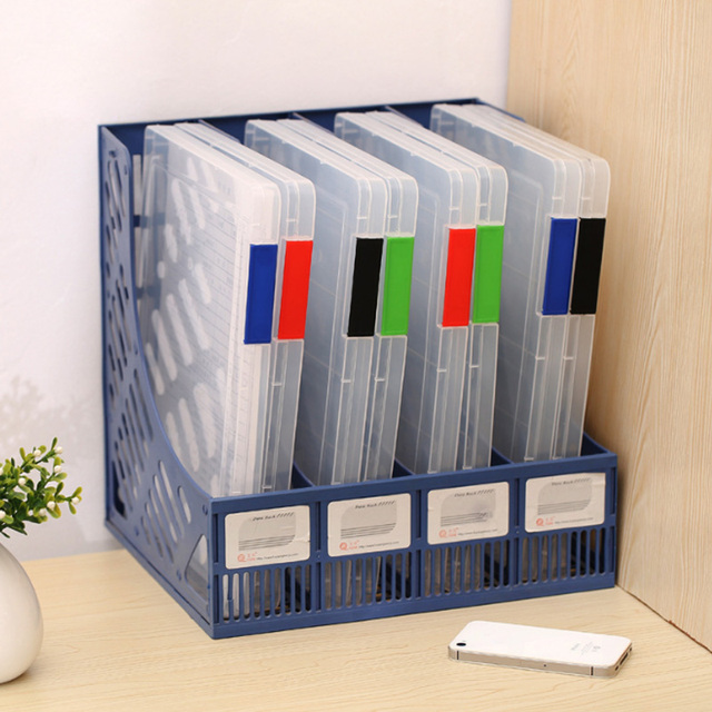 Bon A4 Transparent Storage Box Clear Plastic Document Paper Filling Case File  PP Office Organizer Invisible Storage