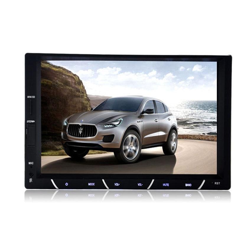 2 Din Car Radio MP5 Player 7''HD Touch Screen Bluetooth Phone Radio Stereo FM/MP3/MP4/Audio/Video/USB Auto Electronics 7010B