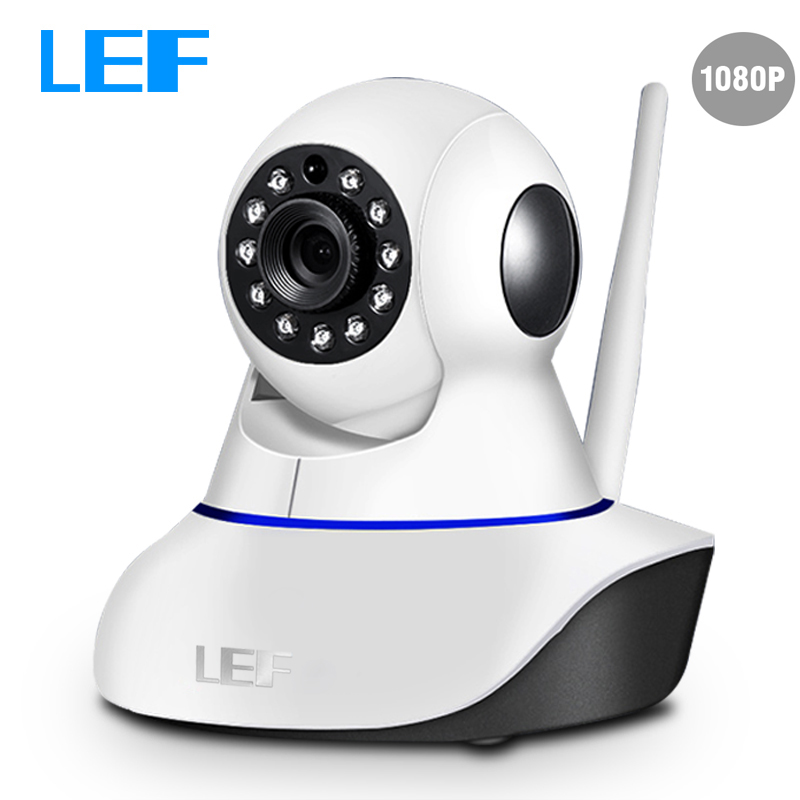 lef 2 0mp 1080p ip camera wifi cctv video surveillance security camera pan tilt two way audio. Black Bedroom Furniture Sets. Home Design Ideas
