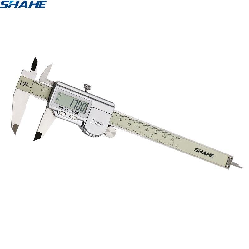 150 mm ip67 à prova dip67 água digital vernier caliper régua vernier caliper micrômetro digital pinças paquimetro digital 150 mm
