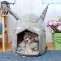 Cool Hero Shape Dog Bed Removable Mat Soft Fleece Dog House Yurt Winter Warm Cat Bed for Small Puppy Dogs Bulldog Chihuahua 10A