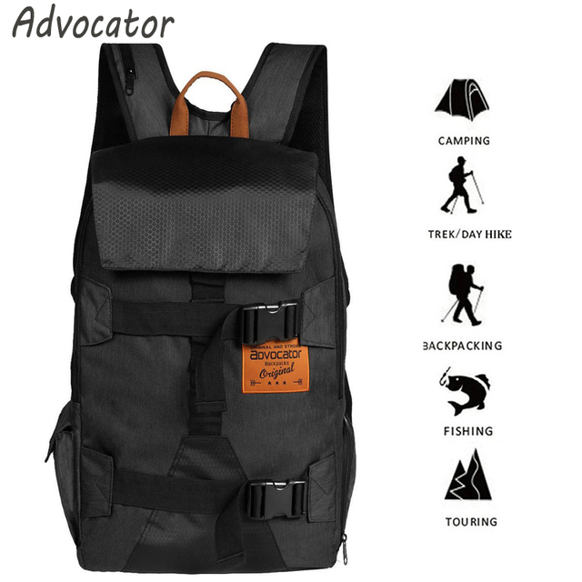 Advocator Large Capacity Military Men Backpack Waterproof Nylon School Backpack for Teenagers Camera 17″ Laptop Backpacking Bag