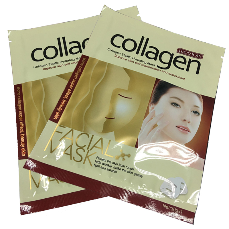 קולגן מהות פנים טיפול פנים מסכת לחות לחות קילוף עור טיפול אנטי-הזדקנות יופי פנים טיפול מסכות 10 יחידות