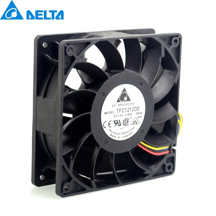 New power motorcycle conversion motorcycle fan violence 12CM fan 3.9A 12v TFC1212DE 120*120*38mm 2pcs/lot delta new ffr1212dhe 12038 12cm super fan 12v 6 3a car booster fan violence 120 120 38mm