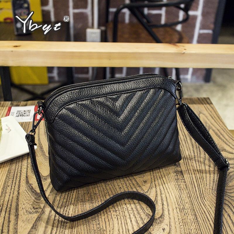 2019 New Fashion Women Striped Shoulder Bag Soft PU Leather Ladies Handbags Joker Leisure Female Crossbody Bags Women Black Bags