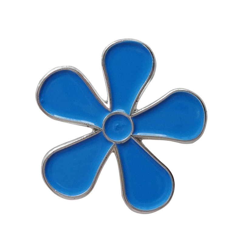 Mini blue Forget me badge gifts Iron plated in Nickel butterfly button Free shipping 300 pcs