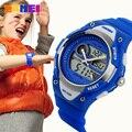Дети Часы 2 Часовой пояс Цифровые Кварцевые Водонепроницаемые Дети Мальчики Девочки Часы Повседневная Спорт LED Платье Прохладно детские Наручные Часы