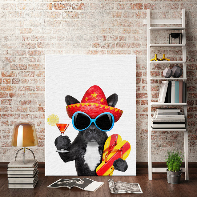 Handsome trendy dog Indoor Fashionable Quotes Wall Decals Photo Painting Framed Pop Art Poster Inspired design & Handsome trendy dog Indoor Fashionable Quotes Wall Decals Photo ...