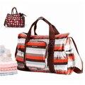 Hot Sale Da Moda de Grande Capacidade Saco Da Flor Bebês de Fralda Bolsa Colorida Mommy Bag Diaper Com Cusion