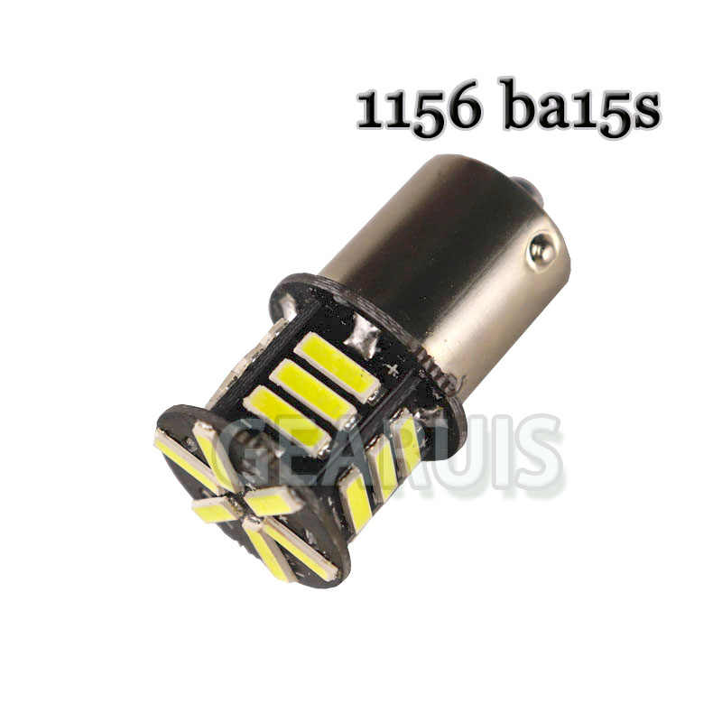 10X S25 1157 BAY15D 21 SMD 7020 7014 светодиодный P21/5 Вт 1156 BA15S Авто отложным воротником Задний сигнальный фонарь лампы тормозных огней лампы белого и красного цветов, 12 V