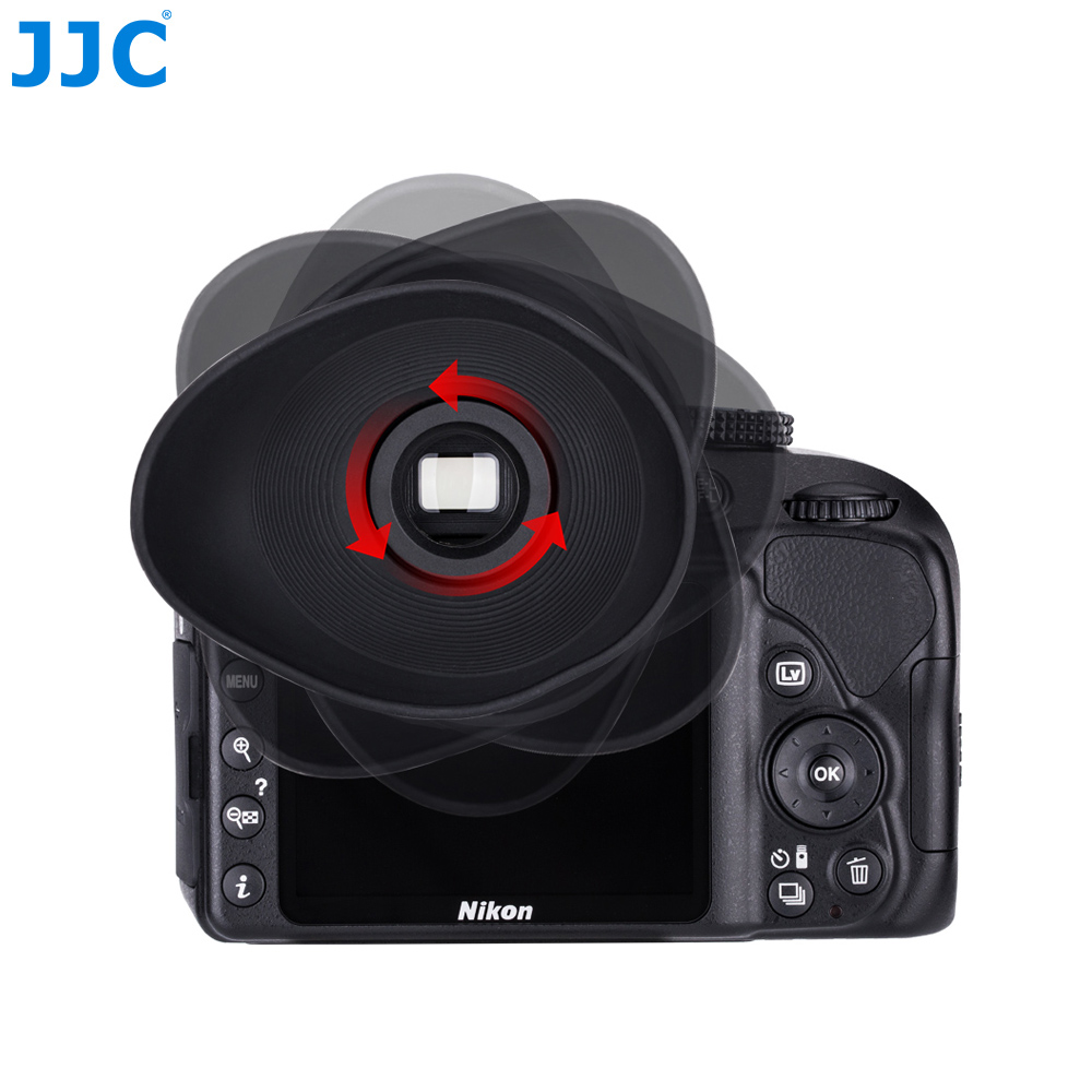 JJC Eyecup <font><b>Eg</b></font> Soft Silicone Rubber <font><b>Eye</b></font> <font><b>Cup</b></font> Glasses User Eyepiece <font><b>For</b></font> <font><b>Canon</b></font> 5D Mark <font><b>IV</b></font>/5D Mark III/EOS-1D X Mark II/7D Mark II