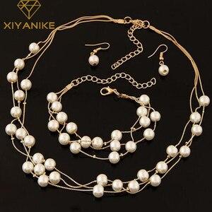 Imitation Pearl Jewelry Set Si