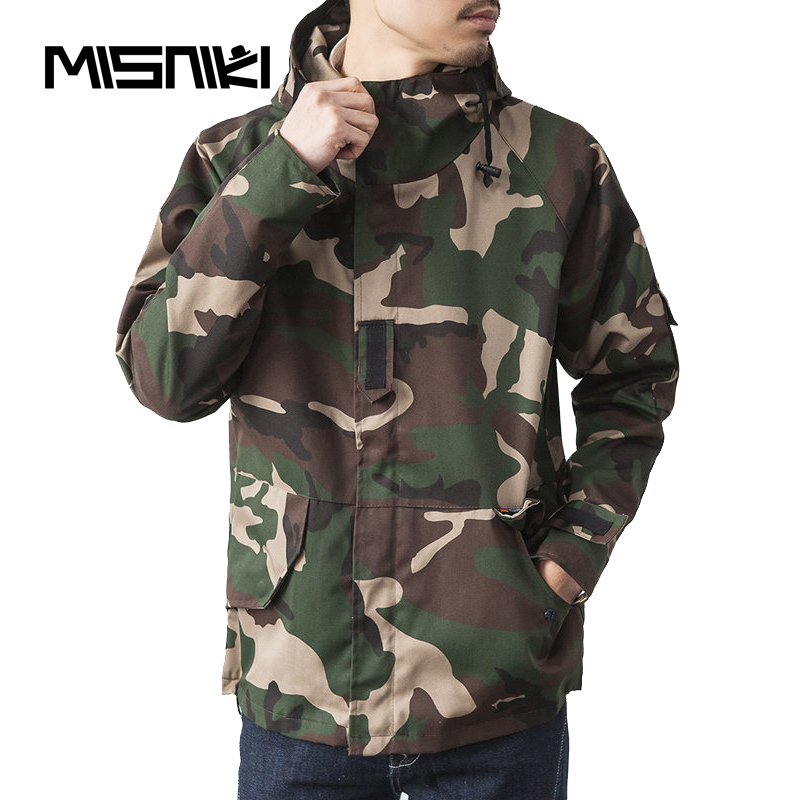 MISNIKI Spring Military Jacket Men Hooded Camouflage Casual Mens Autumn Jacket Coat
