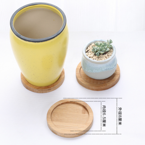 EH-LIFE Bamboo Round Plate Home Decoration Storage Tray