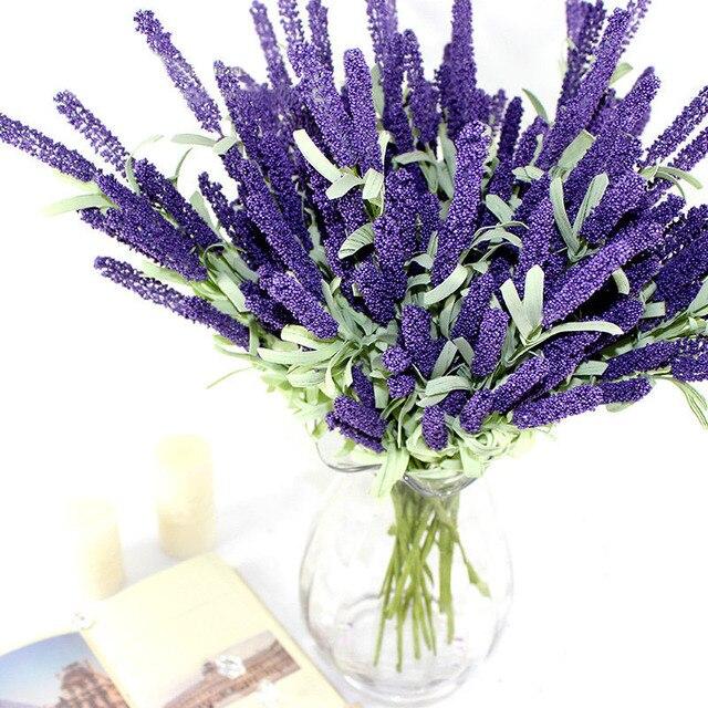 12 heads artificial lavender silk flower bouquet wedding home party 12 heads artificial lavender silk flower bouquet wedding home party decor decorative fake flowers for decoration mightylinksfo