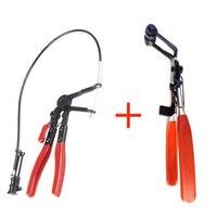 Tipo de Cable de alambre Flexible Long Reach alicates Clip + 45 Degree Angle Bent nariz abrazadera alicates Car Auto vehículo repara las herramientas
