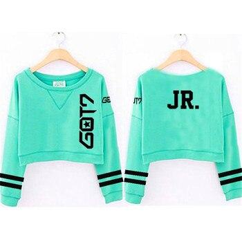 ALLKPOPER Kpop GOT7 Sweatershirt FLUG LOG TURBULENZEN Crop Top Harajuku Lange Hülse Hoodie Beiläufige Hoodies Neue 2019 Trainingsanzüge