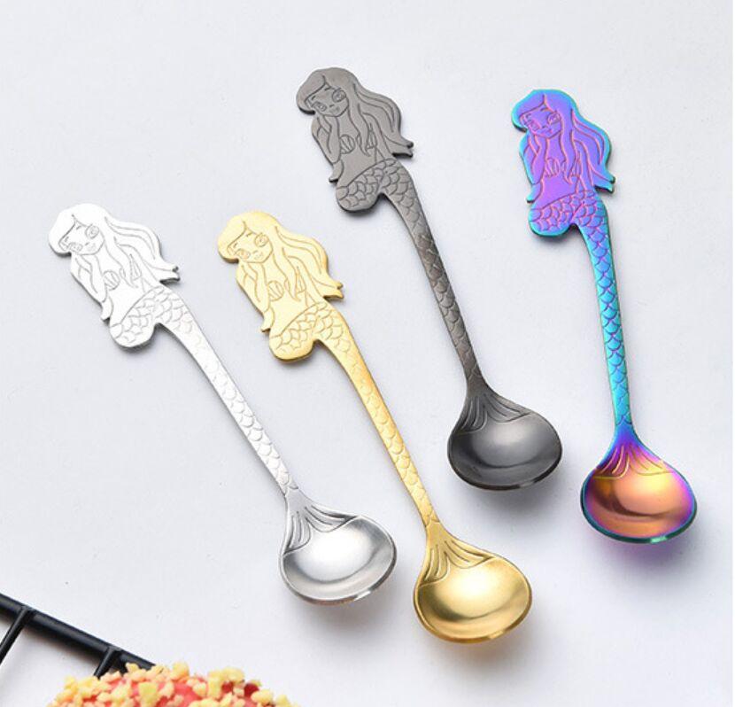 Stainless Steel Guitar Coffee  Mixing Spoon Tableware Kitchen Teaspoon Hanging