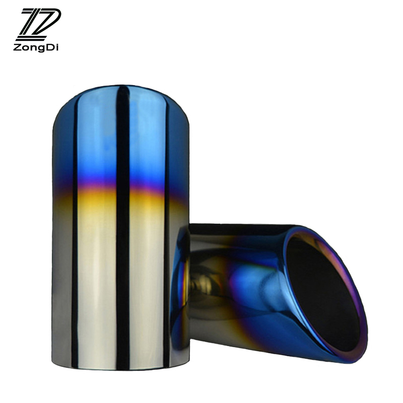 Image 2 - ZD 2pcs Car Accessories For Volkswagen Polo Golf 6 Jetta MK6 1.4T VW Golf 7 MK7 Bora Auto Car Exhaust Tip Muffler Pipe Covers-in Mufflers from Automobiles & Motorcycles