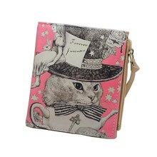 Vintage Marilyn Monroe Purses  Cat  Print  Women Wallets Brand  Female Cartoon Wallet Zebra Carteira Feminina Clutch