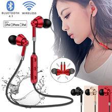 цена на Sweatproof Headphones Wireless Bluetooth Sport Earphones Stereo Headset With Mic Earphones Headphones