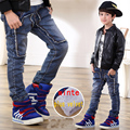 2016 Children's clothing autumn/ winter  child trousers child plus velvet jeans winter plus velvet thickening plus size hot sale