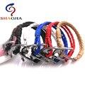 6 Colors!SHAOJIA Wholesale Anchor Bracelet Men Charm Black Anchor Bracelet Alloy Bracelet for Women & Men Friendship Bracelets